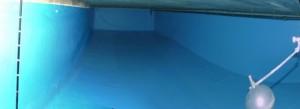 Revisión limpieza y desinfección de deposito agua fría consumo humano. Después de limpiarlo y desinfectarlo.