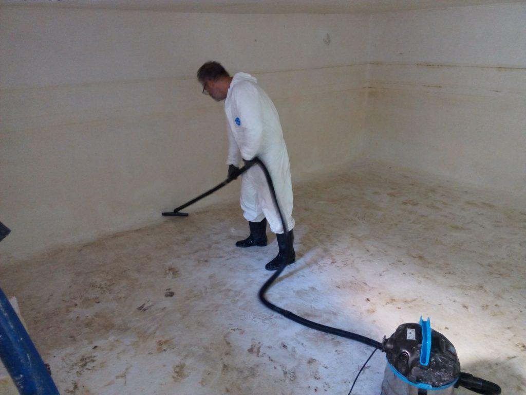 limpieza y desinfeccion de depossitos de AFCH