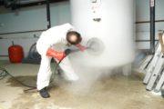 Limpieza de acumulador de agua caliente sanitaria Legionella