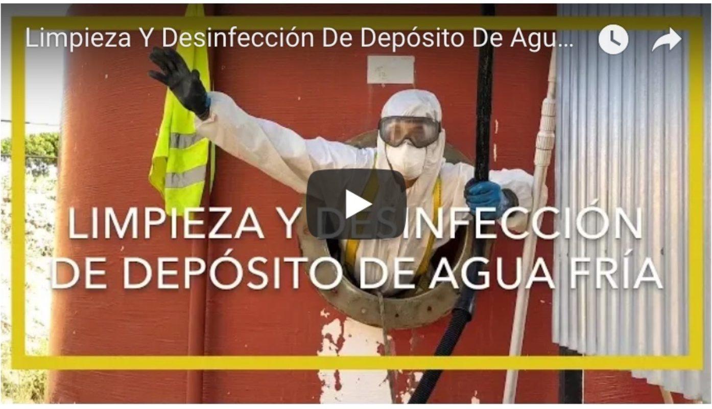 Limpieza y desinfección de depósito de agua contra incendios