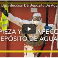 Limpieza desinfeccion de depósito Legionella legionelosis